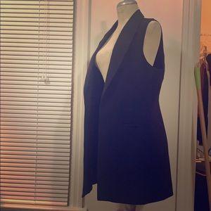 Rachel Zoe long black sleeveless vest